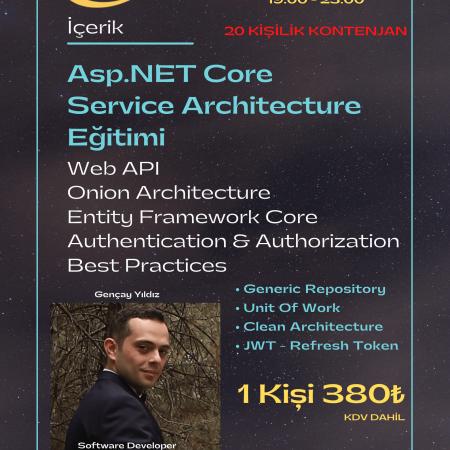 Asp.NET Core – Service Architecture Eğitimi